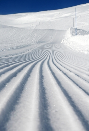 Desert ski slope in winter time photo