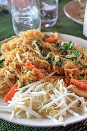 Typical thai dish of noodles photo