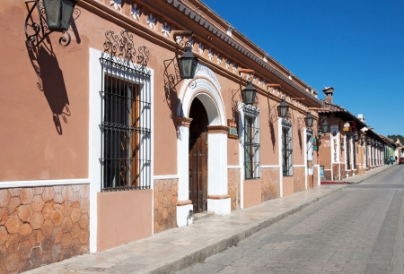maintains: SAN CRISTOBAL DE LAS CASAS, CHIAPAS, MEXICO - FEBUARY 7, 2013  It is a town and municipality located in the Central Highlands region of the Mexican state of Chiapas  The city�s center maintains its Spanish colonial layout and much of its architecture  Editorial