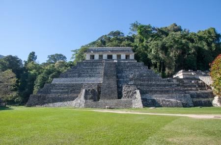 Palenque mayan ruins in Chiapas, Mexico Stock Photo