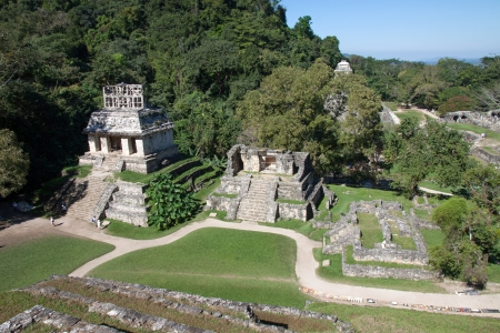 Palenque mayan ruins in Chiapas, Mexico Stock Photo