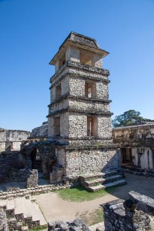 Palenque mayan ruins in Chiapas, Mexico photo