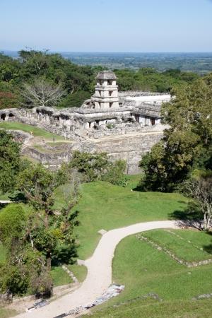 mesoamerica: Palenque mayan ruins in Chiapas, Mexico Stock Photo