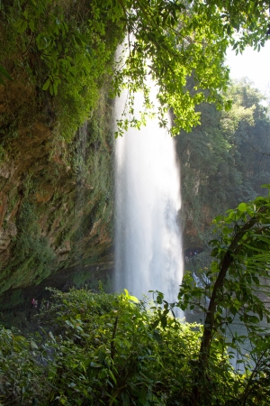 The Misol-Ha waterfalls in Chiapas, Mexico photo