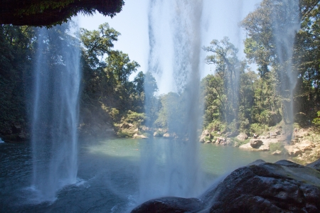 The Misol-Ha waterfalls in Chiapas, Mexico Stock Photo