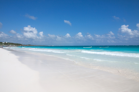 The clear water of the beach of Tulum, Mexico