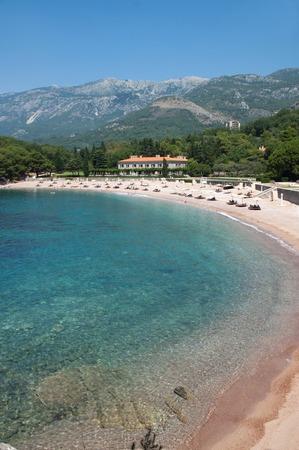 sveti: Queen Palace in front of Sveti Stefan, Montenegro