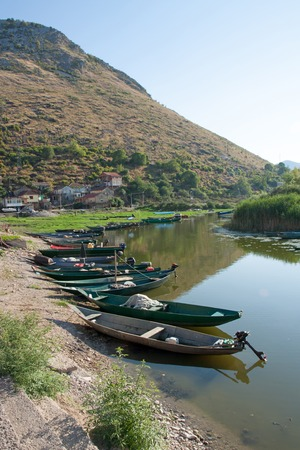 serbia and montenegro: Some boats in the Skadar lake, Montenegro