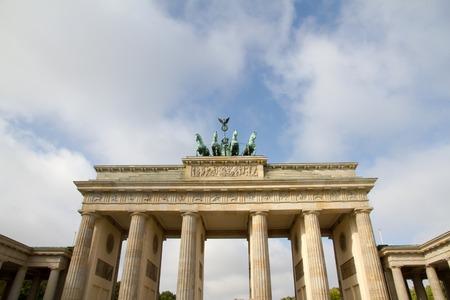 quadriga: The Brandenburg Gatewith quadriga in Berlin, Germany