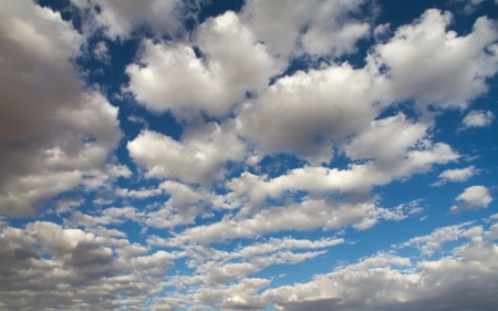blu sky: A blu sky with white clouds Stock Photo