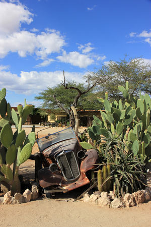 abandoned car: Old abandoned car in the Solitaire village, Namibia