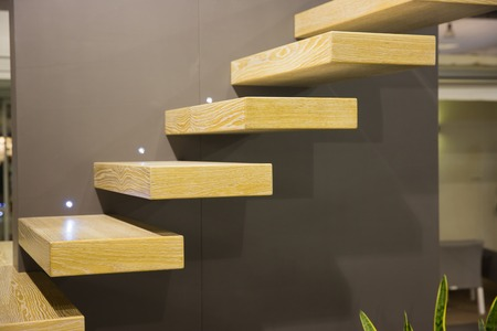 Modern scale with suspended stairs