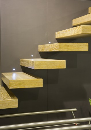 suspended: Modern scale with suspended stairs