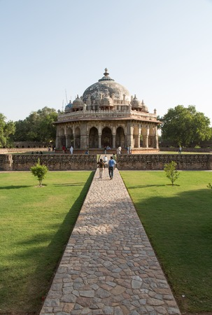 mughal architecture: Isa Khan Tomb Enclosure, Humayuns Tomb Complex, Delhi, India Stock Photo