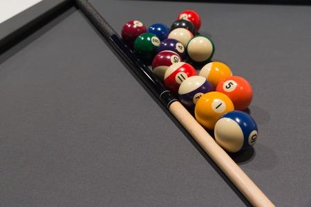billiard: Billiard pool and balls Stock Photo