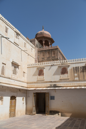 bikaner: Detail of the Junagarh Fort in Bikaner,  India