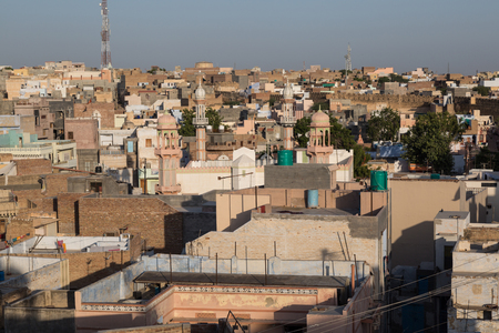 bikaner: Panoramic view of Bikaner town, India