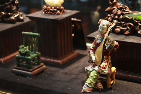 jade: Jade carving & china Stock Photo