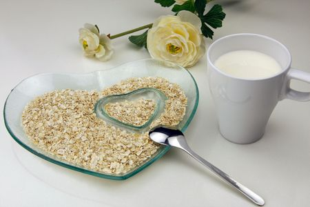 reasonable: heart shaped bowl of cereal