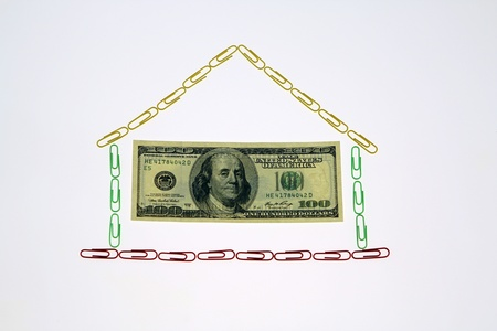 subprime: dollar Houses Stock Photo
