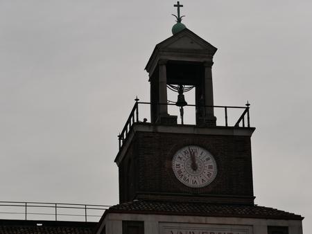 Clock tower shortly before 12 Standard-Bild