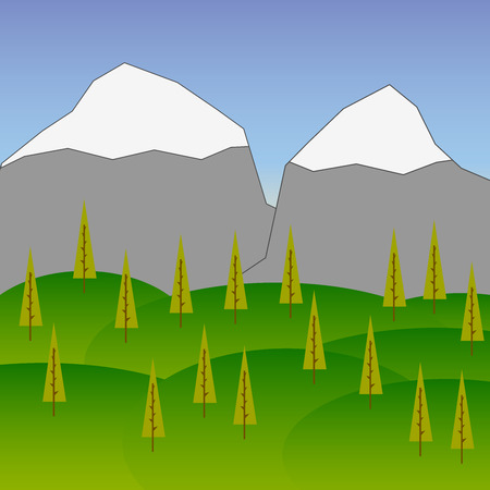 rockies: Vector Background with Mountains  trees