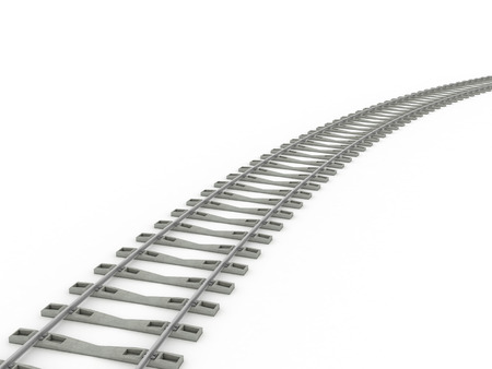 railway track: Railway track lines  Raster  iron Stock Photo