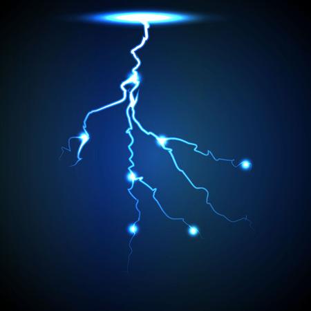 blue lightning: Vector abstract blue lightning flash background. Image 2