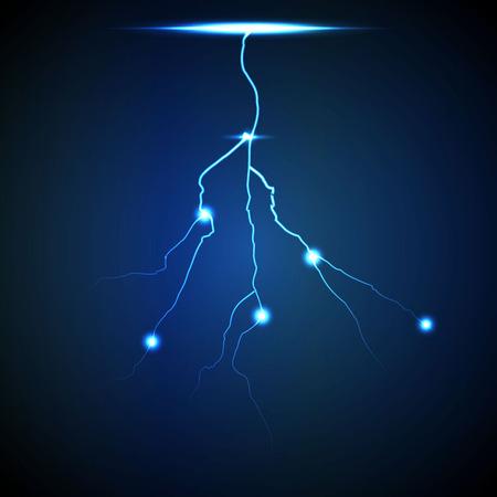background image: Vector abstracto azul del rayo fondo flash. Image 3 Vectores