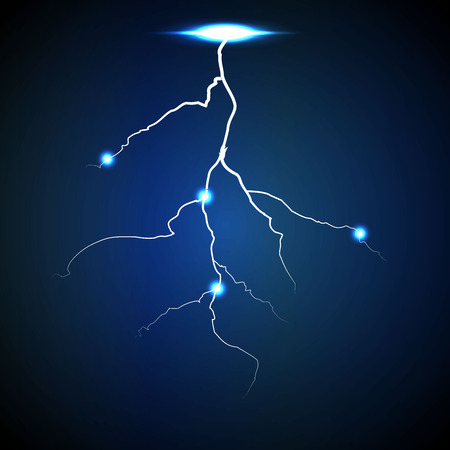blue lightning: Vector abstract blue lightning flash background.  5