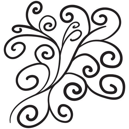 Doodle floral pattern.  Vector