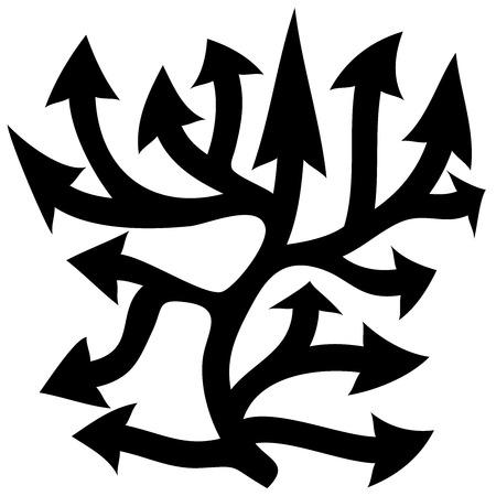 Black arrows - vector Vector illustration Vector