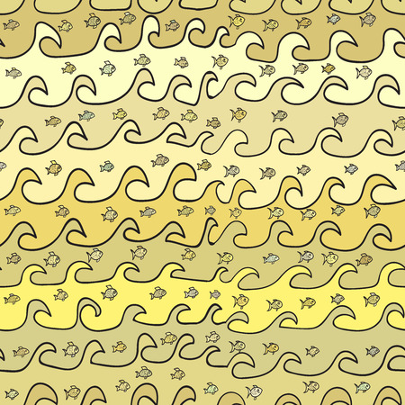 waves: seamless abstract pattern, waves Image Illustration