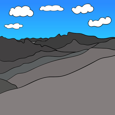 Mountain Range Sky Vector image  blue 1