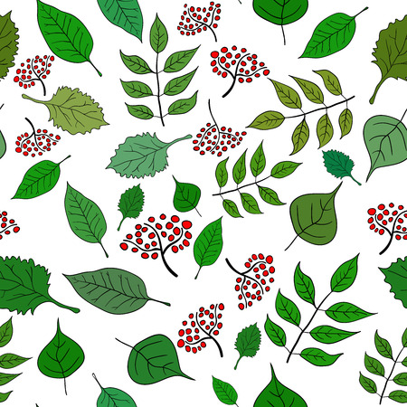vecotr: Seamless green leaf pattern. Vecotr image 1