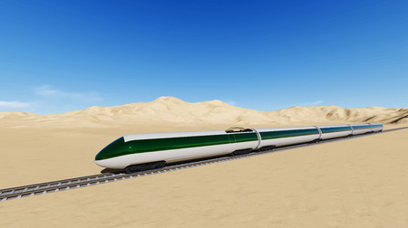 two way traffic: Modern high speed trains Vector image train