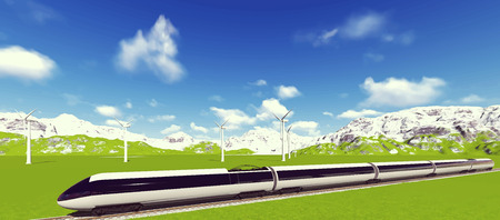 hovercraft: Modern high speed trains Vector image train