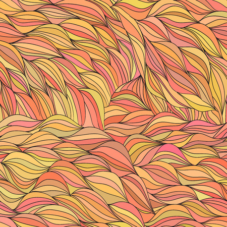 abstract waves: Colored hair waves abstract background  Illustration