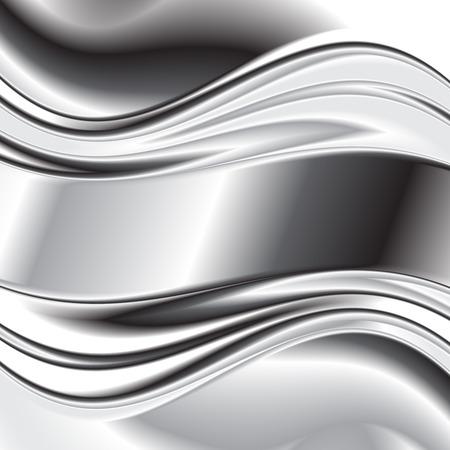 metallic: Abstract background metallic silver banners Stock Illustratie
