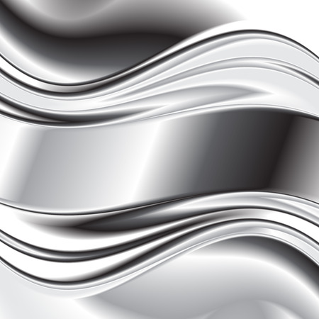 Abstract background metallic silver banners Illustration