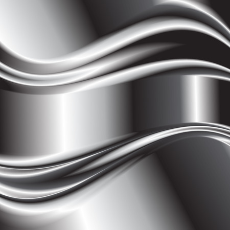 metallic background: Abstract background metallic silver banners