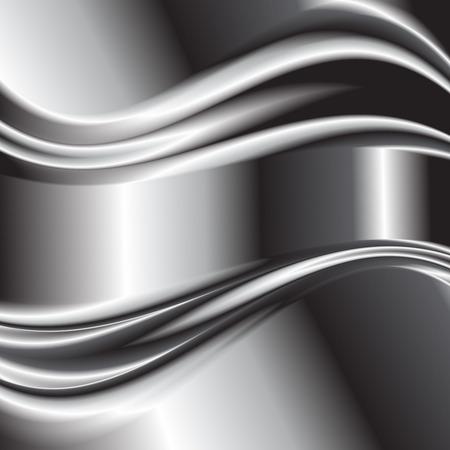 metallic: Abstract background metallic silver banners