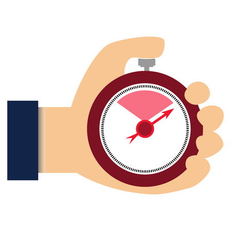 stop watch: Businessman with stop watch vector image timer
