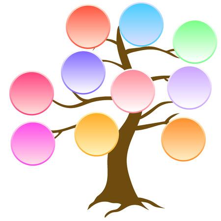 colorido árbol con espacio para texto, infografía fondo Vecrot 2