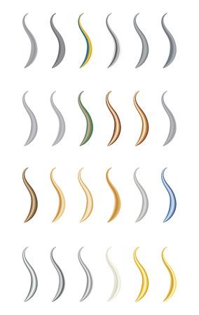 metal textures: Vector metal textures set image metal brush 1 Illustration