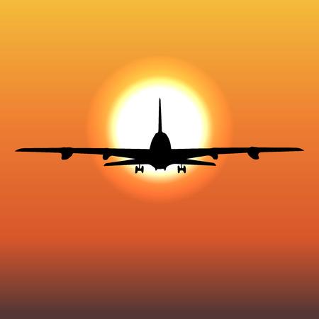air travel: airplane flight tickets air fly cloud sky travel Vector 1