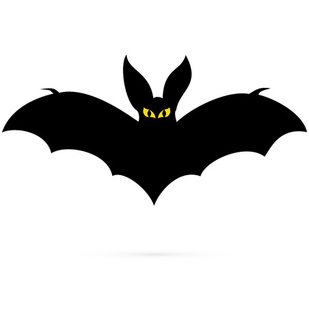 eyes cave: Black silhouettes of bats, vector image 2 Illustration