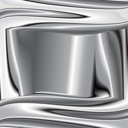 brushed aluminum: grey background vector overlap dimension 3d graphic metal color  Vector 1