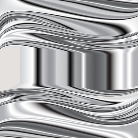 brushed aluminum: grey background vector overlap dimension 3d graphic metal color  Vector 3
