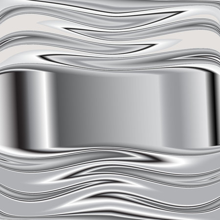 brushed aluminum: grey background vector overlap dimension 3d graphic metal color  Vector 8